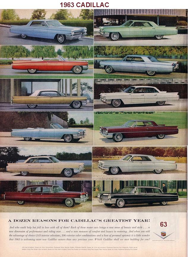 1963 SPECS INFO